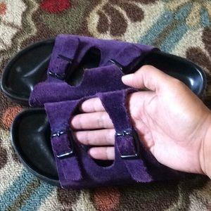 Birkenstock Purple Sandals Sz 37 Black